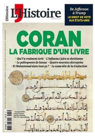 L´Histoire N°472 Le Coran la fabrique d´un livre - juin 2020