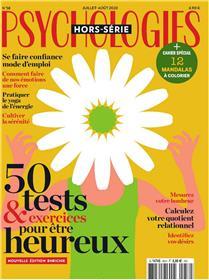 """Psychologies HS N°58 """"50 Tests & exercices pour vivre heureux"""" - juillet/août 2020"""