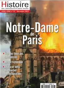 Histoire de l´Antiquité à nos jours HS N°57 Notre Dame de Paris - décembre 2019