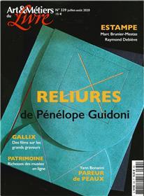 Art et métiers du livre N°339 Pénélope Guidoni - juillet/août 2020