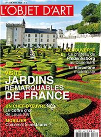 L´objet d´art n° 568 - jardins remarquables de france - juin 2020