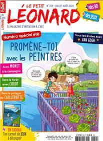 Le petit Léonard n° 259 Promène-toi avec les peintres  - juillet-août 2020