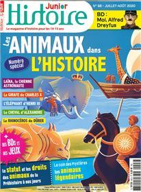 Histoire Junior N°98 Les animaux dans l´histoire  - juillet-août 2020