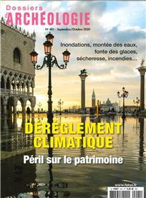 Dossier d´archéologie N°401 Réchauffement climatique le patrimoine cultutrel - septembre 2020