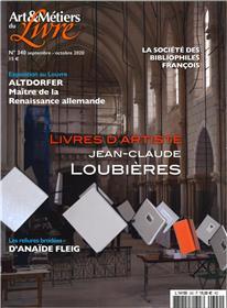 Art et métiers du livre N°340 Livres d´Artiste - septembre 2020