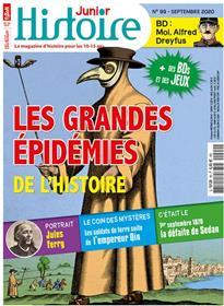 Histoire Junior N°99 Les grandes épidémies de l´Histoire  - septembre 2020