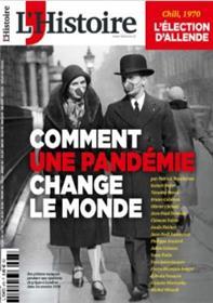 L´Histoire N°475  Comment une pandémie change le monde - septembre 2020