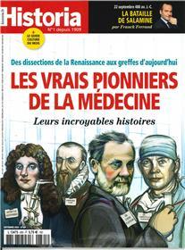 Historia mensuel N°885 Les vrais pionniers de la médecine  - septembre 2020