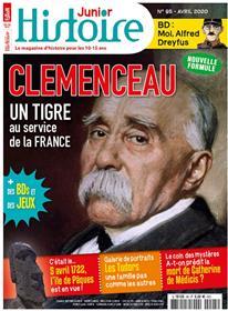 Histoire junior n° 95 - Georges Clémenceau le Tigre - avril 2020