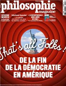 Philosophie magazine n° 143 De la fin de la démocratie en Amérique  - octobre 2020