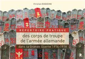 Répertoire Des Corps De Troupe De L´Armée Allemande