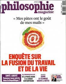Philosophie magazine n° 144 - Enquête sur la fusion du travail et de la vie ? novembre 2020