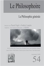 Le Philosophoire N°54 La Philosophie générale - Novembre 2020