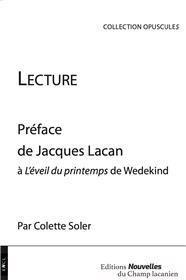 Lecture - Préface de Jacques Lacan à L'Eveil du printemps de Wedekind