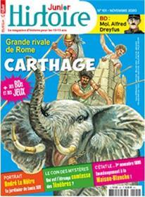 Histoire junior n°101 Grandeurs de carthage - Novembre 2020