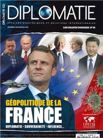 Diplomatie GD N°59  - Géopolitique de la France - décembre 2020/janvier 2021