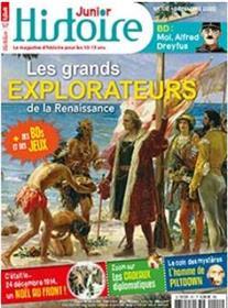 Histoire Junior n°102 Les grandes explorations de la Renaissance - Décembre 2020