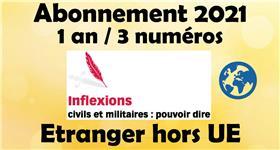 Inflexions Abonnement 2021 Hors Union Europenne  (3 Numeros Par An)