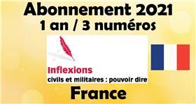Inflexions abonnement 2021 France (3 numéros par an)