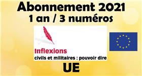 Inflexions Abonnement 2021 Union Européenne (3 numéros par an)