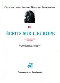 Ecrits sur l´Europe - Volume 2, 1962-1986