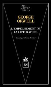 L´empêchement de la littérature
