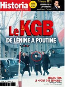 Historia mensuel n°891 - Le KGB, de Lénine à Pourine - mars 2021