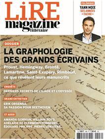 Lire Magazine Littéraire n°496 - Mai 2021 - La graphologie des grands écrivains