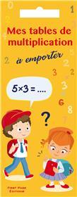 Mes tables de multiplication
