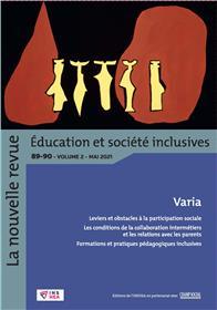 Revue NR-ESI n° 89-90-vol. 2. Varia. Education et société inclusives