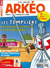 Arkeo Junior n°294 - Les templiers - Avril 2021