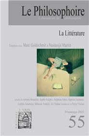 Le Philosophoire N°55 La littérature - Avril 2021