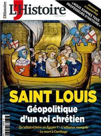 L´Histoire N°478 Saint Louis - décembre 2020
