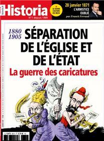 Historia mensuel N°889  - La guerre des caricatures - janvier 2021