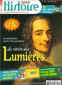 Histoire Junior n°103 - Le Siècle des Lumières - Janvier 2021