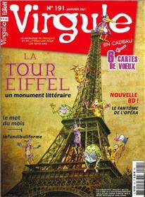 Virgule n°191 - La tour eiffel dans la littérature - Janvier 2021