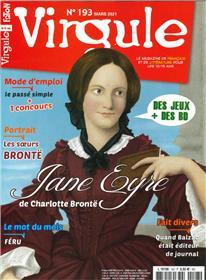 Virgule N° 193 Jane Eyre de Charlotte Bronte - mars 2021
