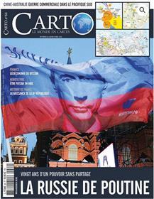 Carto n°64 La Russie de Poutine  - mars 2021