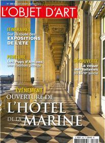 L'Objet d'Art N° 580 : Hotel de la marine - juil/aout 2021