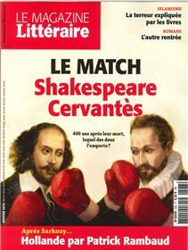 Le Magazine Litteraire N°563  Le Match Shakespeare-Cervantes   Janvier 2016