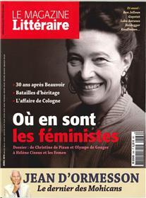 Le Magazine Litteraire N°566 Ou Sont Les Feministes  Avril 2016