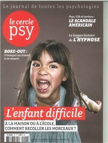 Le Cercle Psy N°20 Les Enfants Difficiles Mars 2016