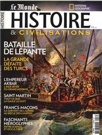 Histoire & Civilisations N°16 Bataille De Lepante Avril 2016