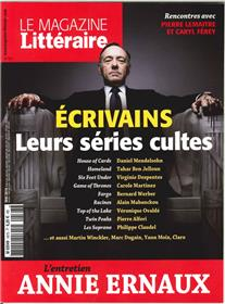 Magazine Litteraire N° 567 - Ecrivains : Leurs Series Cultes - Mai 2016