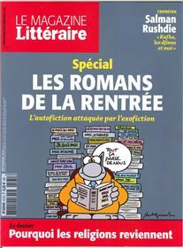 Le Magazine Litteraire N°571 Les Romans De La Rentree  Septembre 2016