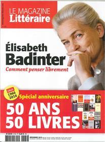 Le Magazine Litteraire N°574 Elisabeth Badinter Decembre 2016