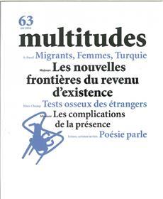 Multitudes N°63 Les Nouvelles Frontieres Du Revenu D´Existence Ete 2016