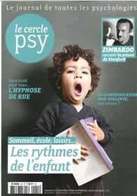 Le Cercle Psy N°22 Les Rythmes De L´Enfant Sept./Oct./Nov./2016