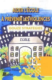 Aider Ecole Prev Violence : 12 Strat