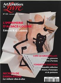 Art Et Metiers Du Livre N°320 L Imprimerie D Alsace Lozere  Mai 2017